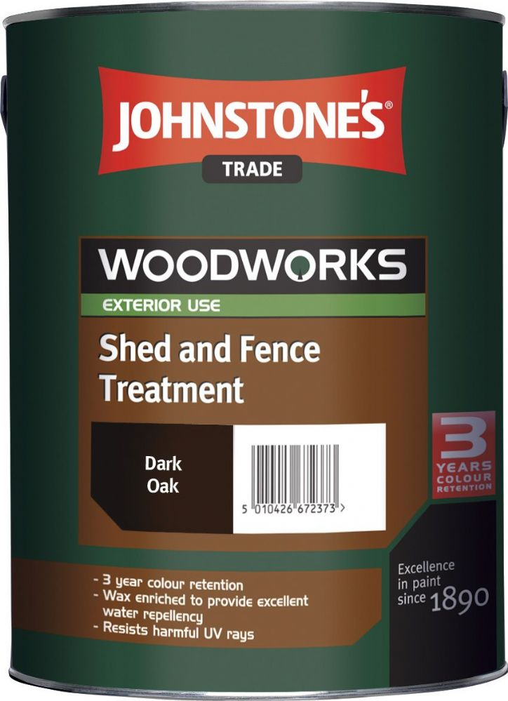 Johnstones Trade Woodworks Shed & Fence Treatment 5L